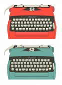 Retro typewriter set