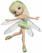 Toon Dragonfly Ballerina Fairy - Green