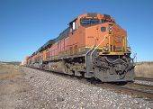 Big orange freight train
