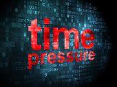 Time concept: Time Pressure on digital background