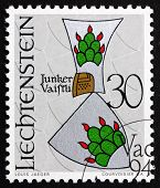 Postage Stamp Liechtenstein 1966 Arms Of Vaistli Knights