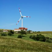 Wind Turbine And Modern House