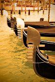 Gondolas near Saint Mark square, Venice, Italy
