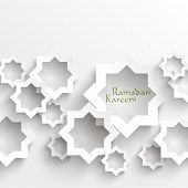 stock photo of hari raya  - Vector 3D Muslim Paper Graphics - JPG