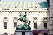 Statue of Prince Eugene of Savoy in front of Hofburg Palace, Vienna, Austria