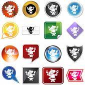 maraca player icon set