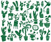 houseplants - doodles set