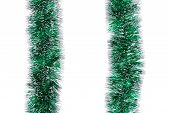 Christmas two green tinsels.