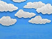 Paper cloud sky