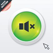 Mute speaker sign icon. Sound symbol.