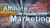 Affiliate Marketing palabra nube caja