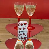 Champagne Glasses And Gift Box In Heart