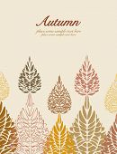 Autumn vector leaves background