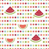 Simply flat fruit dot pattern.