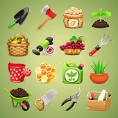 Farmers Tools Icons Set