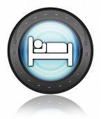 Icon Button Pictogram Hotel Lodging