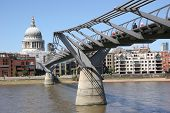 St Pauls And Millennium Bridge, London, UK