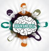 Brain idea with group of people