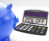 Twenty Percent Off Calculator Means 20 Price Cut