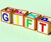 Gift Blocks Mean Giveaway Present Or Offer