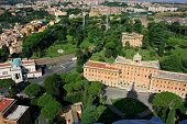 Aerial View Of Palace Of The Governorate Of Vatican City State