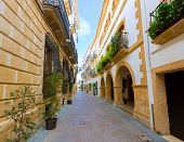 Javea Xabia old town Mediterranean streets in Alicante Spain