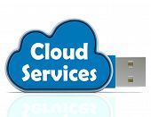 Cloud Services Memory Stick Shows Internet File Backup And Sharing