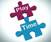 Play Time Puzzle Means Fun And Leisure For Children