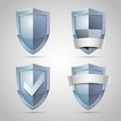Set of shield icons