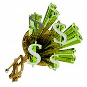 Dollar Sign Means Money Currency And Finances