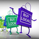 Buy Local Bags Show Neighborhood Market And Business
