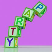Party Blocks Mean Celebration Event Or Socializing