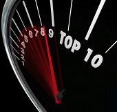 Top 10 Numbers Speedometer Scores Ten Best Results