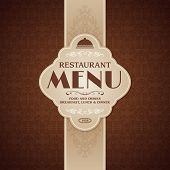 Restaurant cafe menu brochure template