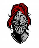 pic of paladin  - Medieval dark knight in helmet - JPG