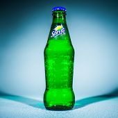 MOSCOW, RUSSIA-APRIL 4, 2014: Bottle of Coca Cola company soft drink Sprite. It was introduced in th