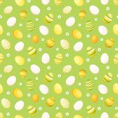 Seamless background with Easter eggs. Vector illustration.