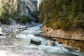 River Flow In Johnston Canyon