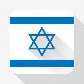 Simple flat icon Israel flag. Vector.