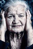 Portrait of a beautiful smiling senior woman.