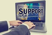 Businessman Contacting Online Support