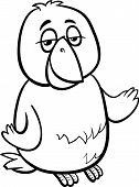 Canary Bird Cartoon Coloring Page