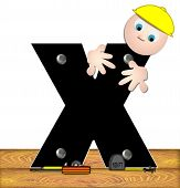 Alphabet Construction Worker X