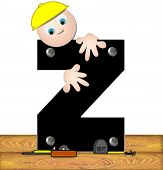 Alphabet Construction Worker Z