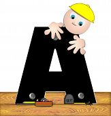 Alphabet Construction Worker A