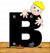 Alphabet Construction Worker B
