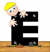 Alphabet Construction Worker E