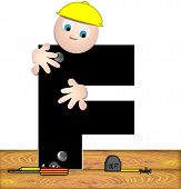 Alphabet Construction Worker F