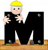 Alphabet Construction Worker M