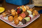 Fruit and Doughnut Shish Kabobs